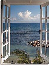Artland Wandbild Fenster zum Paradies 60x80 cm,