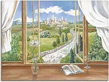 Artland Wandbild Fenster zur Toskana 80x60 cm,