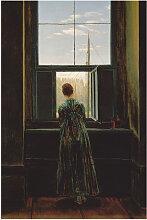 Artland Wandbild Frau am Fenster. 1822(?) 60x90