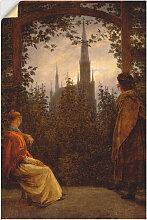 Artland Wandbild Gartenlaube. 1818. 20x30 cm,