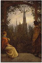 Artland Wandbild Gartenlaube. 1818., Garten, (1