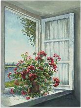 Artland Wandbild Geranien am Fenster 30x40 cm,