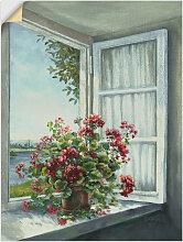 Artland Wandbild Geranien am Fenster 60x80 cm,