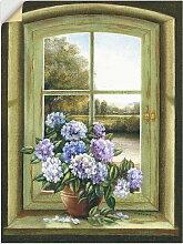 Artland Wandbild Hortensien am Fenster 30x40 cm,