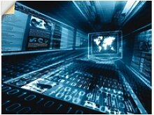 Artland Wandbild Internet Konzept, Geräte &