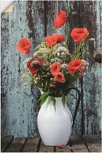 Artland Wandbild Krug mit Mohnblumen 40x60 cm,