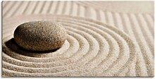 Artland Wandbild Mini Zen Garten - Sand 100x50 cm,