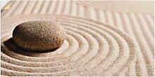 Artland Wandbild Mini Zen Garten - Sand 60x30 cm,