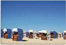 Artland Wandbild Strandkörbe am Strand von