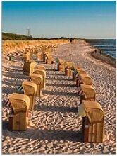 Artland Wandbild Strandkörbe Ostseeküste in