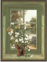 Artland Wandbild Wildrosen am Fenster 30x40 cm,
