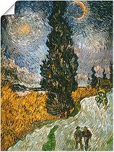 Artland Wandbild Zypresse gegen den Sternenhimmel,