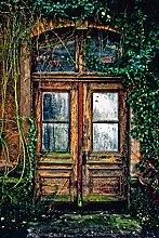 Artland Wandbilder selbstklebend aus Vliesstoff oder Vinyl-Folie Hubertus Kahl Die alte Tür Architektur Fenster & Türen Fotografie Braun C7VN