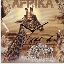 Artland Wanduhr Afrika, lautlos, ohne