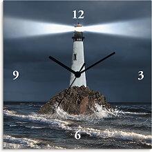 Artland Wanduhr Bild von Leuchtturm mit