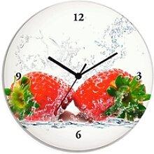 Artland Wanduhr Erdbeeren mit Spritzwasser