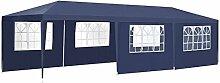 ArtLife Partyzelt 3x9 m blau mit 8 Seitenwände