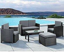 ArtLife Polyrattan Gartenmöbel Sitzgruppe Samos