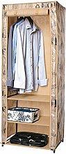 ArtMoon Loft Kleiderschrank Garderobenschrank Faltschrank mit Wasserabweisend Stoff 61x45x155cm Lackierter Stahl / Kunststoff / Polyester