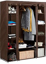 ArtMoon Montana   Großer Stoffschrank mit Stange   Kleiderschrank mit 12 Fachböden und 1 Kleiderstange   15 Kleiderbügel und 30 kg Tragkraft   Einfache Montage   Dimension: 135x45x175cm