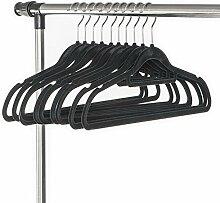 ArtMoon Soft Set aus 10 Samt Kleiderbügel Schwarz
