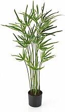 artplants - Deko Cyperus Gras mit 16 Halmen, 190 Blättern, 80 cm - Künstliche Papyrus Staude / Kunst Papier Pflanze