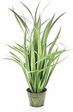 artplants - Deko Yucca Busch mit 45 Blättern,
