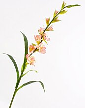 artplants Gladiole de luxe, Rosa, 115 cm -