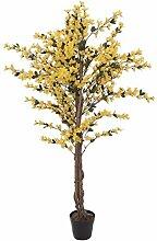 artplants - Künstliche Forsythien Pflanze MISAKI, gelb, 150 cm - Kunstbaum / Deko Baum