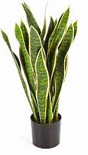 artplants Künstliche Sansevieria, gelb-grün,