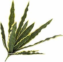 artplants - Künstliche Sansevieria-Pflanze auf Steckstab, gelb-grün, 75cm - wetterfest - Deko Grünpflanze / Kunst Bogenhanf