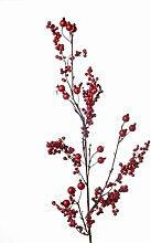 artplants Künstlicher Beerenzweig ZAMA, rot, 95