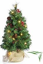 artplants - Künstlicher Mini Weihnachtsbaum