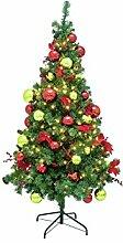 artplants Künstlicher Tannenbaum ANNIE mit 300 LEDs, geschmückt, 180 cm, Ø 85 cm - Kunst Weihnachtsbaum/Deko Christbaum