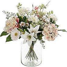 artplants - Kunst Blumenstrauß Feme, rosa-weiß,