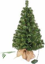 artplants Mini Weihnachtsbaum WARSCHAU mit