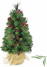 artplants Set 2 x Künstlicher Mini Weihnachtsbaum