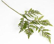 artplants Set 6 x Künstlicher Lederfarn Zweig