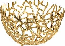 ARTRA Dekoschale Aluminium Schale Elif in Gold