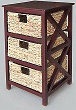 Artra Kommode Beistelltisch Nachttisch Holz 3S