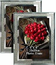 Artsay Glas-Bilderrahmen für Tisch Art Deco 6x8(2