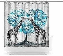Artsbay Niedlicher Giraffen-Duschvorhang mit