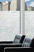 Artscape Sichtschutzfolie Wasserlinien Fenster Film, Silber, 61x 92cm