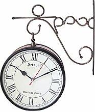 Artshai Antik Stil 20,3cm Station Uhr, 2Uhr