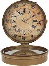 Artshai Full Messing Antik Optik Tisch Uhr mit