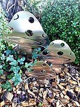 ARTTEC Design Pilz 2 (Gartenstecker) (3er Set,