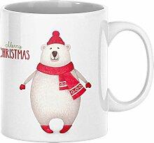 ArtUp.de Weihnachtstasse Bär - Tasse Kaffeebecher