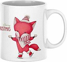 ArtUp.de Weihnachtstasse Fuchs - Tasse