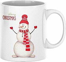 ArtUp.de Weihnachtstasse Schneemann - Tasse