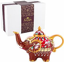 Artvigor, Porzellan Kaffeekanne, 0,8 L Tee Kanne,